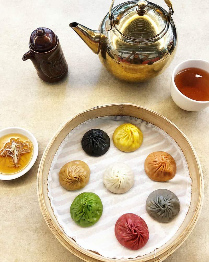 Bánh bao Xialongbao nhiều màu đẹp mắt