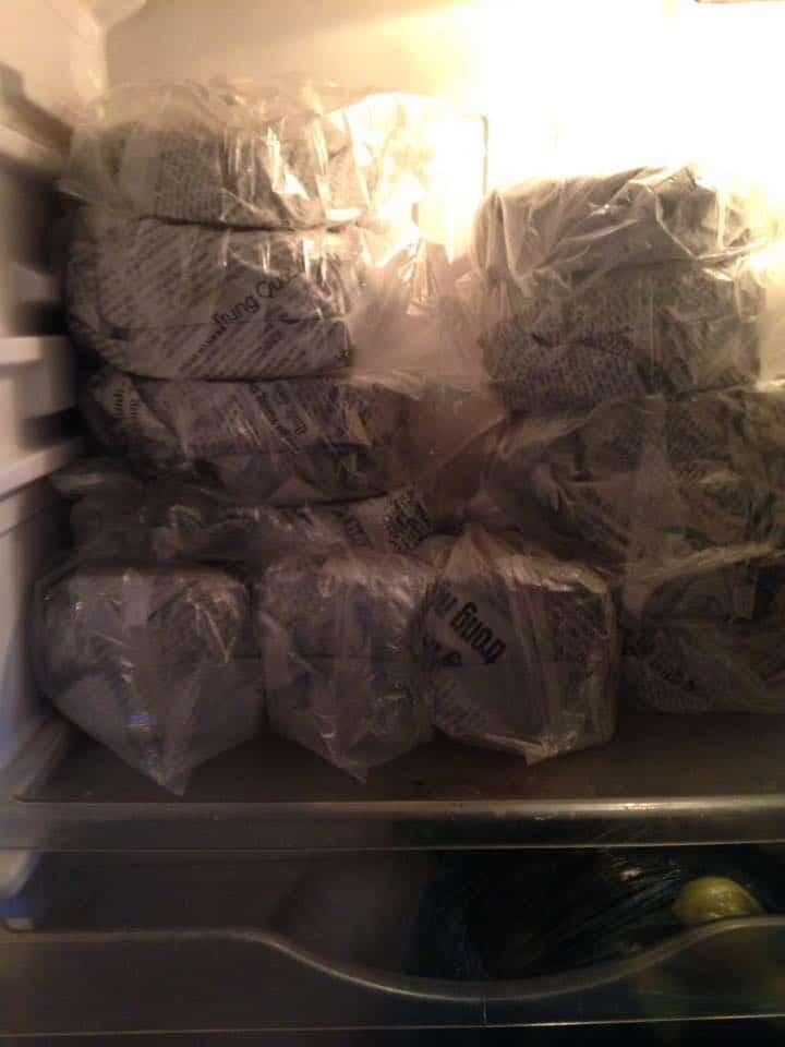 Bảo quản vỏ vằn thắn, lá hoành thánh, vỏ bánh gối trong ngăn mát tủ lạnh