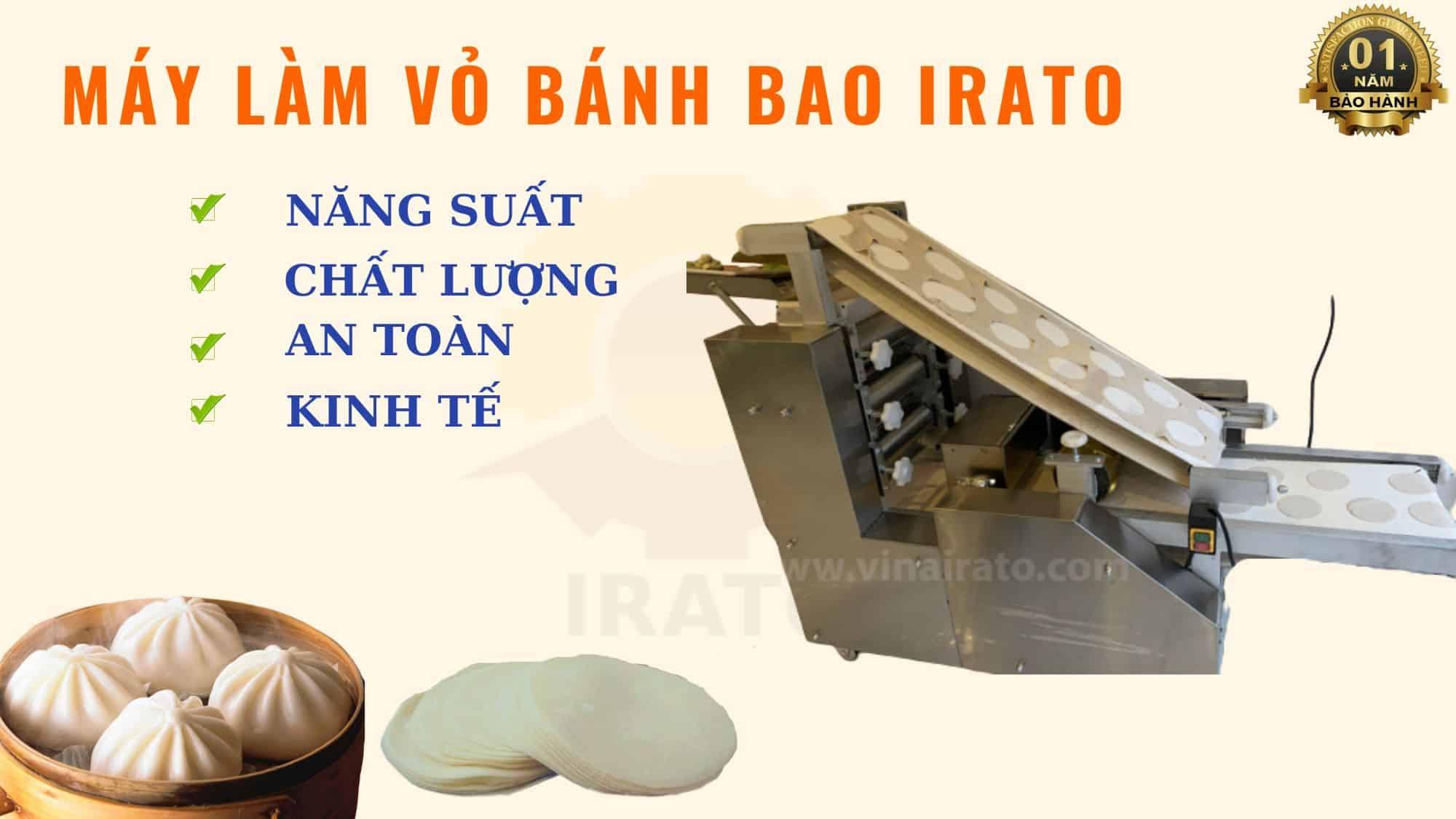 máy làm vỏ bánh bao công nghiệp